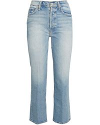 Mother The Tripper High-rise Straight Jeans - Blue