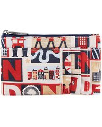Harrods Iconic London Travel Purse - Red
