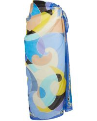 Emilio Pucci Long Sirens Song Pareo - Blue