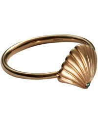 Bee Goddess - Rose Gold And Diamond Aqualight Oyster Ring - Lyst