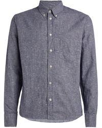 Billy Reid Striped Kirby Shirt - Blue