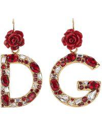 Dolce & Gabbana - Logo Pendant Earrings - Lyst