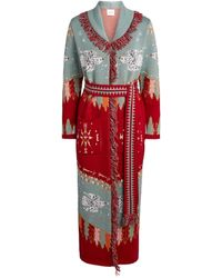 Hayley Menzies Drifters Longline Knitted Cardigan - Red