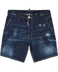 DSquared² Distressed Shorts - Blue
