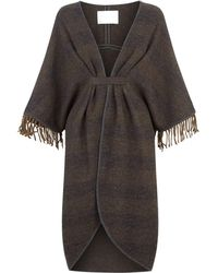 Fabiana Filippi - Leather Trim Fringed Cape - Lyst
