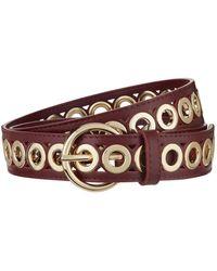 Sandro - Leather Loop Embellished Belt - Lyst