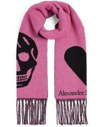 Alexander McQueen - Skull And Heart Scarf - Lyst