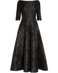 Talbot Runhof Textured Bogna Gown - Black