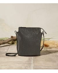 Brunello Cucinelli Monili-embellished Leather Bucket Bag - Metallic