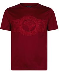 Stefano Ricci Eagle Circle Embroidered T-shirt