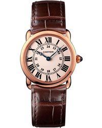 Cartier - Pink Gold Ronde Louis Watch 29mm - Lyst
