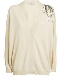 Brunello Cucinelli - Cashmere Embellished Cardigan - Lyst