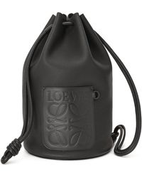 Loewe Leather Sailor Bag - Black