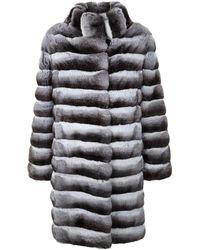 Harrods Long Chinchilla Coat - Gray
