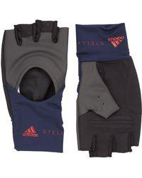adidas By Stella McCartney Fingerless Training Gloves - Blue
