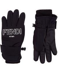 Fendi Roma Ski Gloves - Black