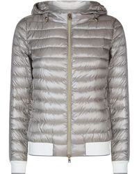 Herno - Hooded Down Bomber Jacket - Lyst