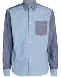 Lanvin Patchwork Shirt - Blue