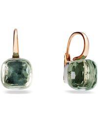 Pomellato - Large Nudo Prasiolite Rose Gold Earrings - Lyst