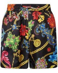 Versace - Silk Medusa Shorts - Lyst