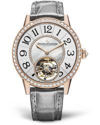 Jaeger-lecoultre Rose Gold And Diamond Rendez-vous Tourbillon Watch 39mm - White