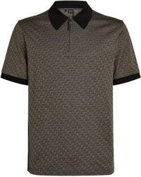 Brioni - Cotton-silk Polo Shirt - Lyst