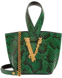 Versace Python Virtus Top-handle Bag - Green