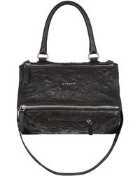 Givenchy - Medium Washed Leather Pandora Shoulder Bag - Lyst