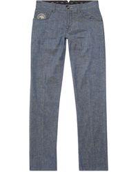 Stefano Ricci Linen-blend Jeans - Blue