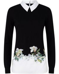 Ted Baker - Gorgiin Embroidered Sweater - Lyst
