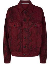 b3567e950 Gucci. Flora Snake Bomber Jacket. $1,426. Harrods. Alexander Wang - Snake-print  Game Jacket - Lyst