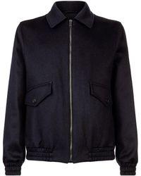 Gieves & Hawkes Harrington Wool Jacket - Blue