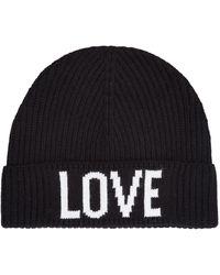 Sandro Love Print Beanie Hat - Black