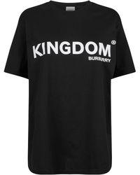 f0ce672c Burberry - Kingdom Print Cotton Oversized T-shirt - Lyst