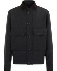 Lemaire - Wool Blouson Jacket - Lyst