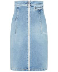 Off-White c/o Virgil Abloh High-waist Denim Skirt - Blue