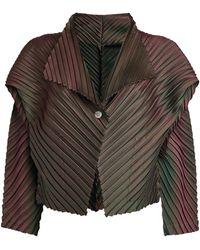 Issey Miyake Pleated Jacket - Multicolour