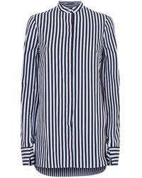 Alexander McQueen - Slashed Cuff Striped Shirt - Lyst