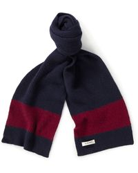Le Bonnet Classic Lambswool Scarf - Blue