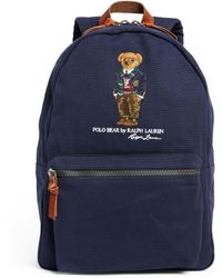 Polo Ralph Lauren - Canvas Polo Bear Backpack - Lyst