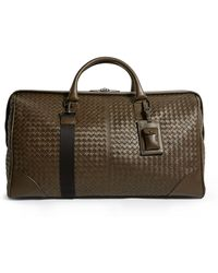 Bottega Veneta Leather Intrecciato Duffle Bag - Green