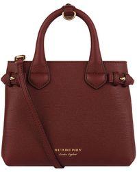 Lyst - Burberry Medium D88 Top Handle Bag in Blue 929d7a17dab87