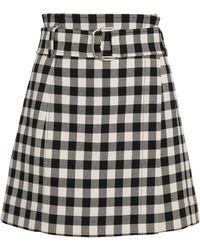 MAX&Co. Gingham Mini Skirt - Black
