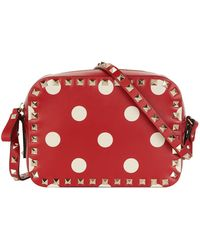 Valentino - Polka Dot Rockstud Camera Bag - Lyst