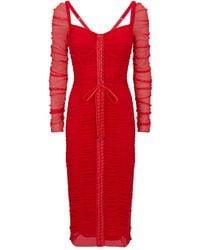 Dolce & Gabbana Gathered Corset Dress