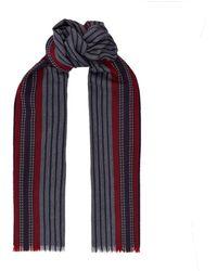 Harrods - Striped Merino Wool Scarf - Lyst