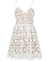 835a9473064 Self-Portrait - Azaelea Floral Lace Sleeveless Mini Dress - Lyst