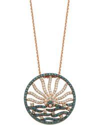 Bee Goddess Gold And Diamond Cintemani Sun Necklace - Metallic
