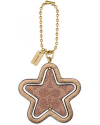 COACH Signature Canvas Spinning Star Tag - Multicolour