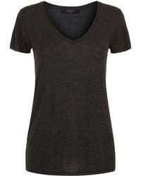 AllSaints - Emelyn Shimmer T-shirt - Lyst